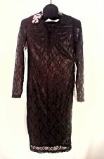 NEW WITH TAGS SEXY BOOHOO  WOMEN'S BLACK LACE DRESS SIZE 10