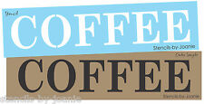 Designs Joanie Country STENCIL COFFEE Canvas Art Shop Craft U Paint Prim Signs