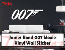 James Bond 007 Custom Movie Wall Vinyl Sticker