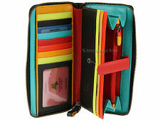 Visconti Ladies RFID Blocking Soft Luxury Leather Zip Around Purse Wallet - STR5