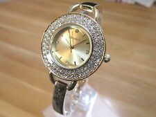BRAND NEW LADIES HENLEY WATCH GOLD DIAL DIAMANTE STONES ROSE GOLD BRACELET