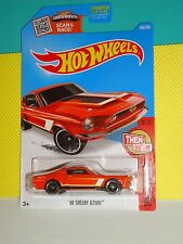2016 Hot Wheels Then and Now #105 Custom '68 Shelby GT500- Loose - Muscle Orange