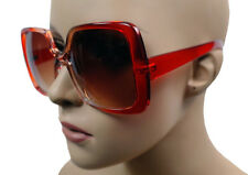 NEW WOMEN CELEBRITY DESIGNER OVERSIZE JACKIE O SUNGLASSES ACRYLIC LENS RED-5002B