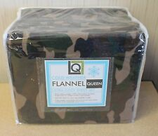 NEW LIVING QUARTERS HEAVY WEIGHT 4PC CAMOUFLAGE CAMO FLANNEL QUEEN SIZE SHEETS