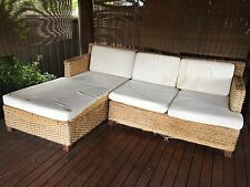 Water Hyacinth Lounge Resort Style Cane Alfresco Chaise Balinese