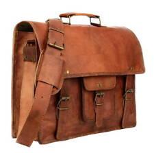 b3576bb599 Mens Genuine Vintage Leather Satchel Messenger Man Handbag Laptop Briefcase  Bag