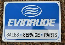 Evinrude Service Sales Mechanic Garage Sign Marina Boat outboard  Free Shipping