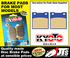REAR DISC BRAKE PADS TO SUIT SUZUKI SV650 SX SY SK1 SK2 Faired (Non ABS) (99-02)