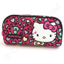 Hello Kitty Sweet Leopard Pencil Case or Make Up bag NEW    22533