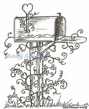 Valentine Heart Mailbox, Wood Mounted Rubber Stamp NORTHWOODS - NEW, P8923