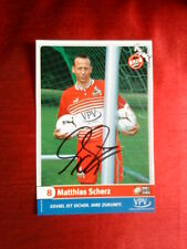 MATTHIAS SCHERZ FC KOLN COLOGNE HAND SIGNED FOOTBALL PHOTO CARD 6 x 4 VGC
