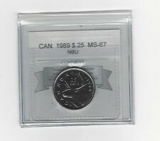 **1989** Coin Mart Graded Canadian,25 Cent, **MS-67 NBU**