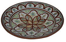 "Moroccan Ceramic Plate Salad Pasta Bowl Serving Handmade Wall Hanging 12"" Large"