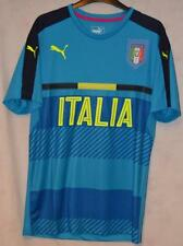 BNWT ITALY ITALIA PUMA BLUE TRAINING FOOTBALL SHIRT UK LARGE MENS
