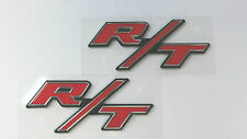 Dodge Challenger Charger Red R/T Emblem Jeep Chrysler RT Decal PAIR 4806323-AB