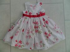 Beautiful Girls Ladybird Floral Summer Party Dress Age 9/12 Months VGC