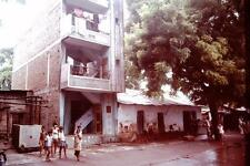 Photo. 1978-9. Baroda, India. Slum - Housing, People, Goats