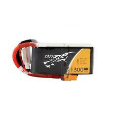 Tattu 1300mAh 4S 14.8V 75C 150C Gens Ace Lipo Battery Pack XT60 Plug FPV Drones