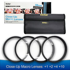 58mm Macro Close Up Lens Kit +1+2+4+10 for Canon EOS 1200D 750D 700D 650D 600D