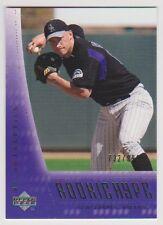 2003 UD Authentics #129 Clint Barmes Rookie Hype RC 732/999 Colorado Rockies
