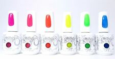 Harmony Gelish Soak-Off Gel Nail Polish Reo Neon Collection Set 0.5oz Each