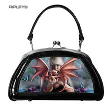 ANNE STOKES 3D Evening Clutch Hand Bag Black PVC Gothic Fantasy 'Dragon Kin'