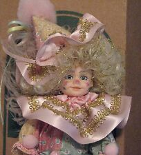 Vintage Robin Woods Calico Clown Doll 1991, With Tag & Original Box