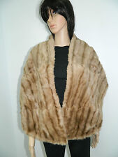 RUSSIAN SQUIRREL FUR COLLAR STOLE SCARF CAP n172