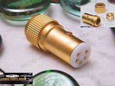 CONECTOR DIN (5 Pins Directo) CONTACTO COBRE GOLD 24 K PLATO DE VINILO VINTAGE