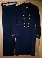 Original Pre WW2 US Navy Warrant Officer Frock Coat And Trousers ID'd