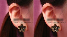 Womens Fashion Vintage Bronze Plated Alloy Flowers Earings Retro Ear Stud Jewels
