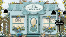 Aqua Victorian Chic Fashion Shabby Girly Cottage Boutique Ebay Auction Template