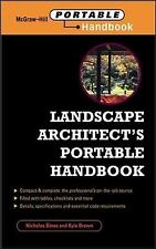 Landscape Architect's Portable Handbook by Kyle D. Brown and Nicholas T....