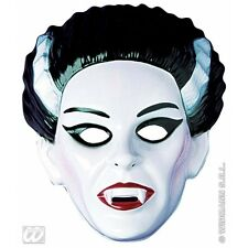 Vampiress Mask Plastic for Dracula Halloween Fancy Dress Accessory
