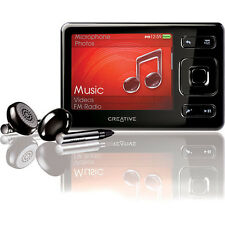 Creative Zen Black 4GB FM Radio VIDEO AAC WMA WAV MP3 Audible Media Player Mint