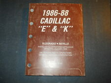 1986 87 88 CADILLAC E K PARTS CATALOGUE ELDORADO CDN