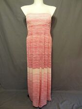 Lane Bryant casual strapless Striped Maxi Tube sundress plus size 26/28 .