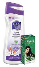 Boroplus Total Results Moisturizing Body Lotion, Badam and Milk Cream, 300ml