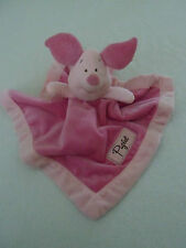 Disney Pink PIGLET  Velour security blanket plush Winnie the Pooh Velour Soft