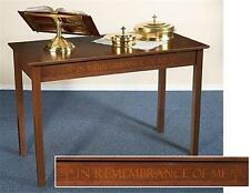 MRT Solid Maple Silk-Screened Hardwood Church Chapel Altar Communion Table 48""