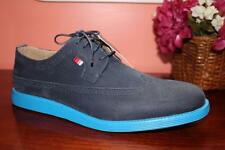 New PHAT FARM Mens PHAT CLASSIC Sporty Oxfords Faux Suede 9 M Navy Blue