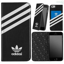 "adidas Premium Book Case iPhone 6, 6s 4,7"" Handy Schutz Hülle Cover Tasche black"