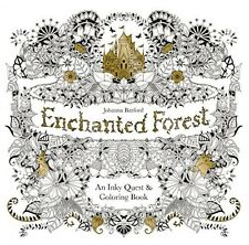 Enchanted Forest An Inky Quest & Coloring Book, New, Free Shipping