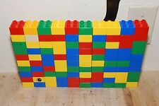 Lot of 100 Lego Duplo 2x2 Blocks Assorted Colors