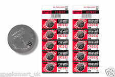 GENUINE 10 x Maxell CR2032 Battery 3V Lithium Button Coin Cells Batteries £1.79