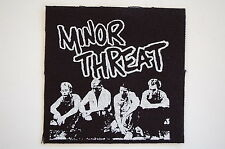 "Minor Threat Patch Sew On Badge Punk Rock Music Approx 4""X4"" (CP56)"