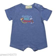 Gardening Bear Short Sleeves Romper Acid Blue Daddy's Little Helper Size Newborn