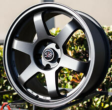 BLACK 17X8 +35 ROTA GRID 5X114.3 WHEELS FIT CAMRY ECLIPSE LANCER TSX MAZDA 3 6