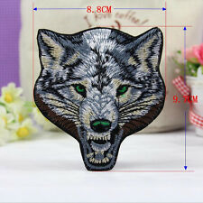 1Pc Embroidered Sew Iron on Patch Badge Wolf Pattern Bag Cloth Applique Fabric