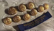 9 BROOKS BROTHERS 346 GOLD TONE  METAL BLAZER BUTTON BY WATERBURY LOT# 2071